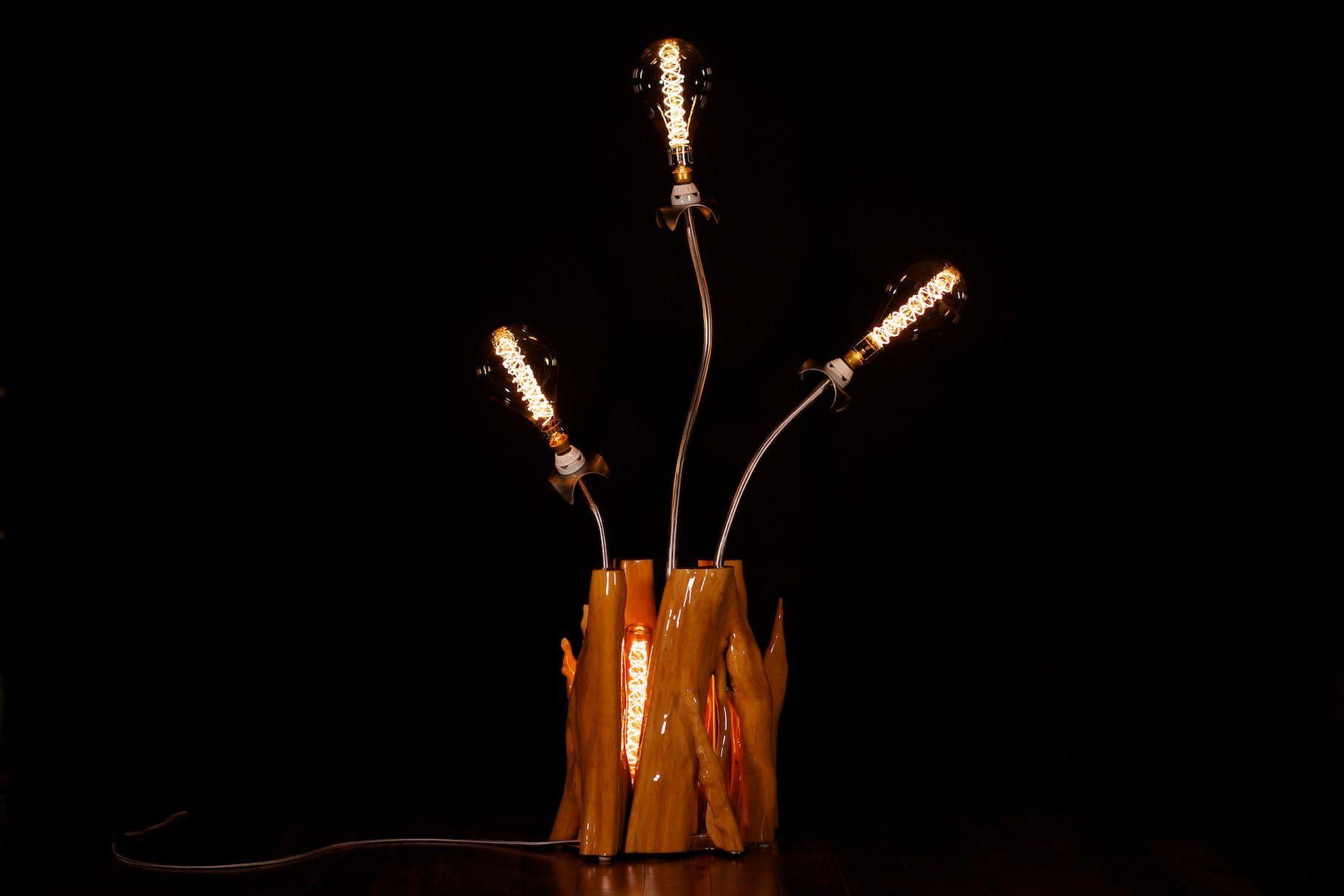 Seneca Studio Nature Inspired Floor Lamp With Tree Base