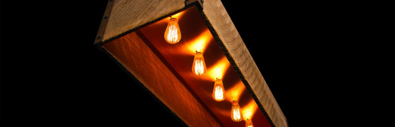 Rustic Lightbox Barn Chandelier