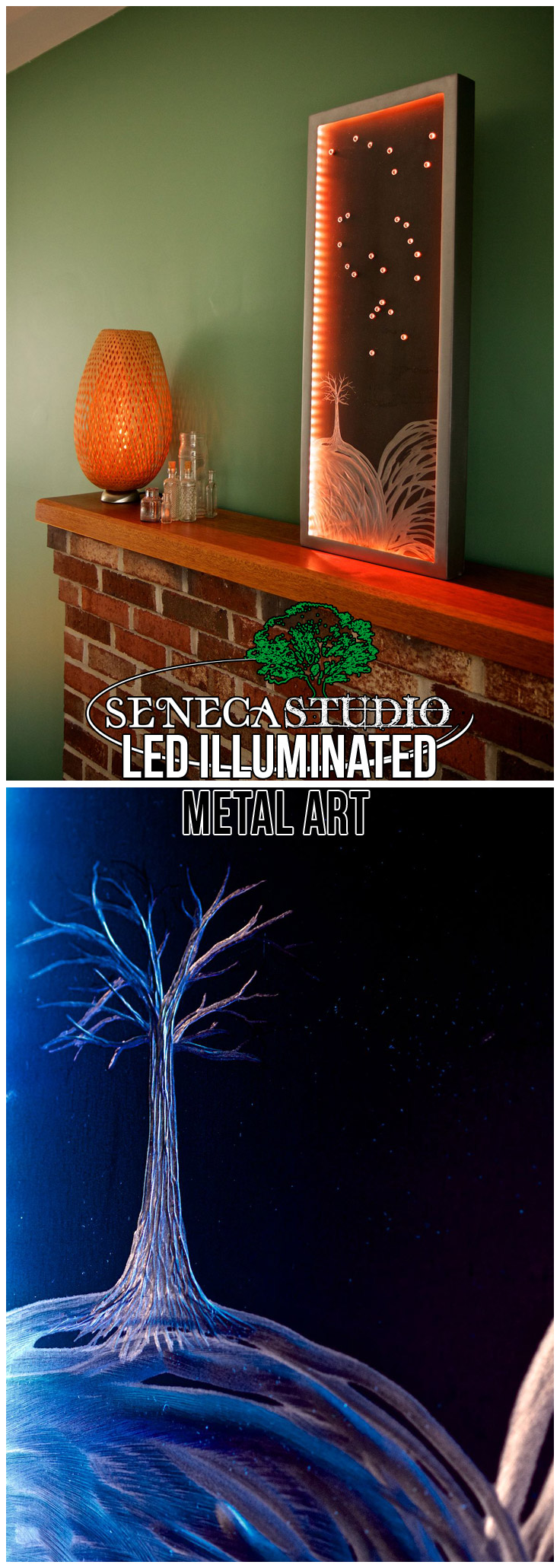 LED Illuminated Constellation Metal Art