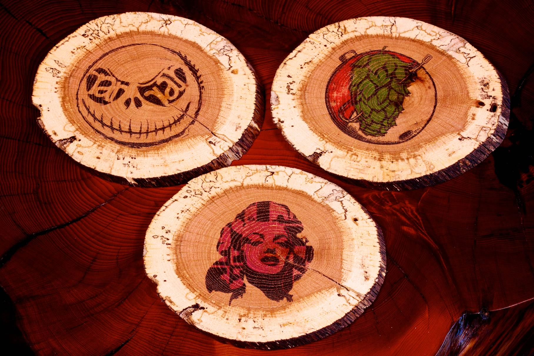 DIY Custom Printed and Branded Wood Coasters and Magnets