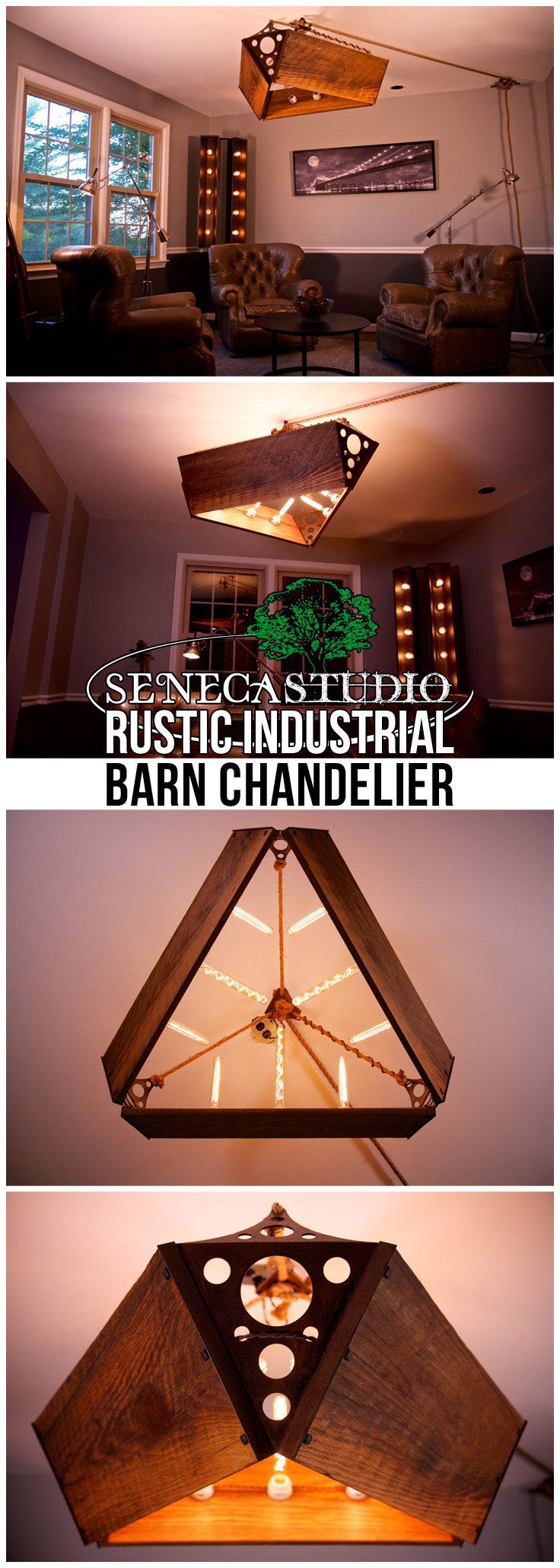 Rustic Industrial Barn Chandelier